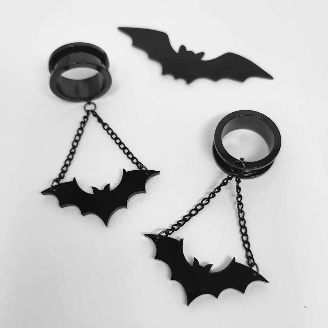 Dangle Tunnel Black Bat 10mm-50mm
