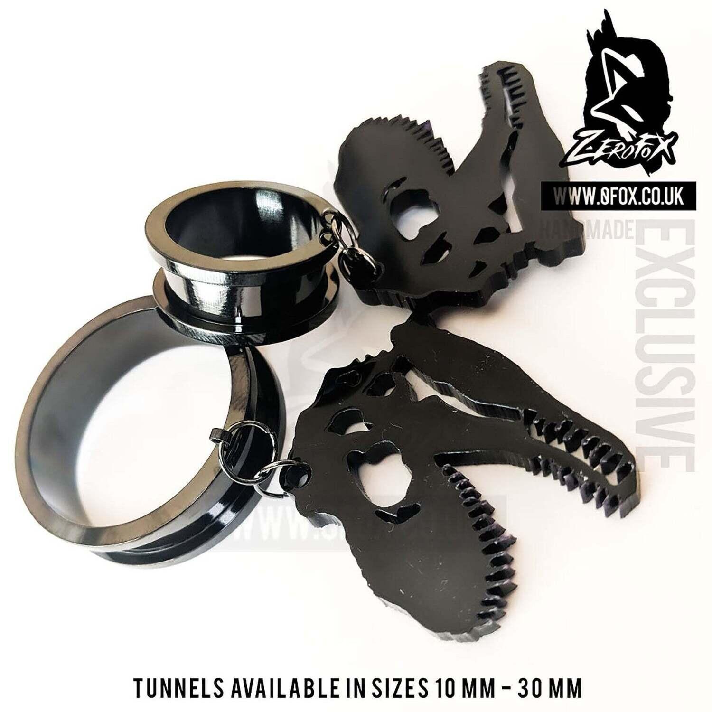 Dangle Tunnel T Rex (Black) 10mm-50mm