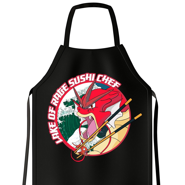 Apron Red Gyarados Sushi Chef