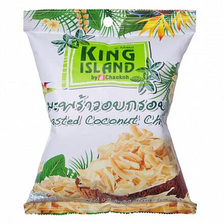 Кокосовые чипсы, 40 гр., King island, классические Тайланд