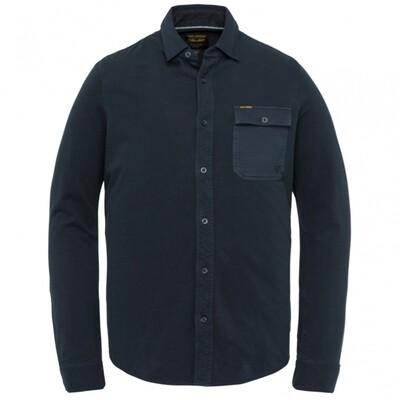 PME Legend | Long Sleeve Shirt Garment Dye Pique Shirt PSI211218-5073