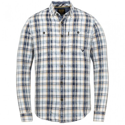PME Legend| Long Sleeve Shirt Denim Check Fabric PSI211210 - 590
