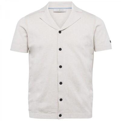 Cast Iron   Short Sleeve Shirt Knitted Cotton Melange CSIS212234 - 910