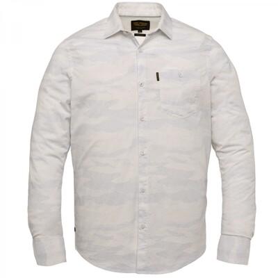 PME Legend | Long Sleeve Shirt All-Over Print On Poplin Stretch PSI212203 - 7003
