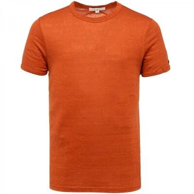 Cast Iron | Linen Slim Fit T-Shirt CTSS213551-8220