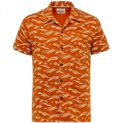Cast Iron | Printed Short Sleeve Overhemd CSIS213248-8220