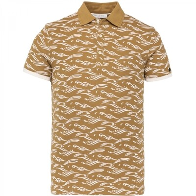Cast Iron | Jersey All Over Print Polo CPSS213875-8054