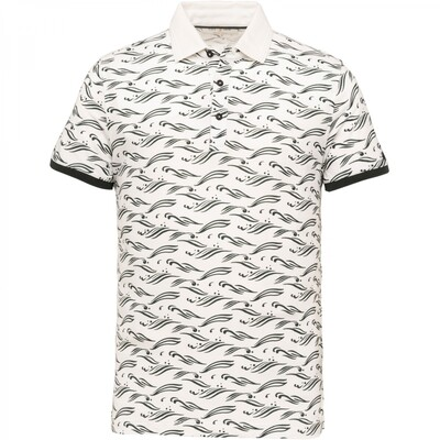 Cast Iron | Jersey All Over Print Polo CPSS213875-7003