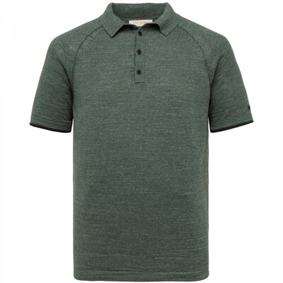 Cast Iron | Short Sleeve Polo Knitted Cotton Melange CPSS213876-6024