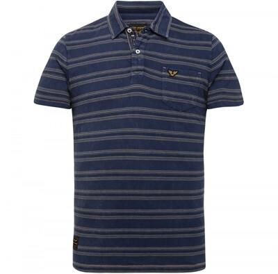 PME Legend | Short Sleeve Polo Jaquard Texture Stripe PPSS215878-590