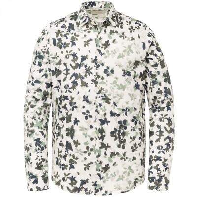 Long Sleeve Shirt Print On Poplin Stretch CSI215201-7155