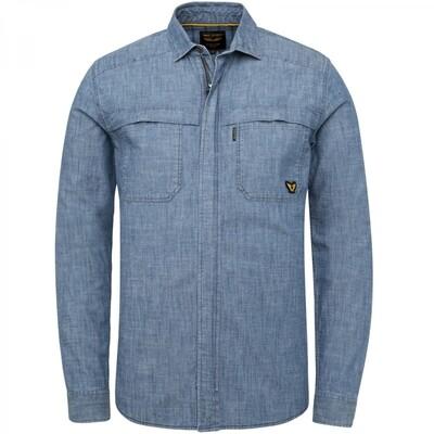 Long Sleeve Shirt Chambray Overshirt PSI215201-590