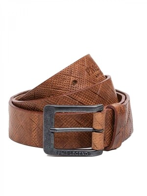 Leather Belt Italian Full Grain Leather With Embossed Effect PBE215204-898