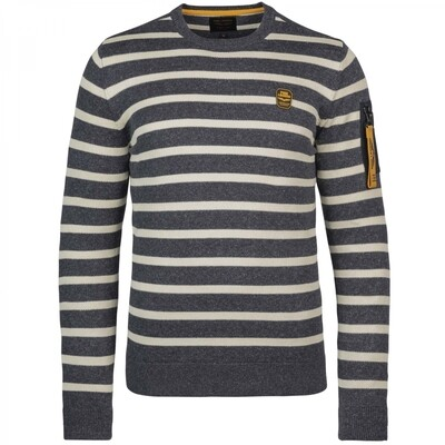 PME Legend   Roundneck Pullover With Stripe PKW215307-5288