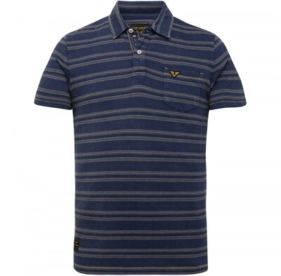 PME Legend   Short Sleeve Polo Jaquard Texture Stripe PPSS215878-590