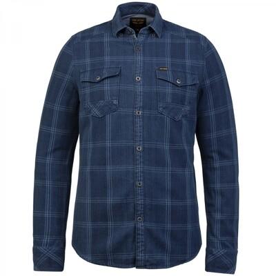 Indigo Twill Check Shirt PSI215206-590