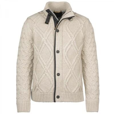 Zip Jacket Heavy Knit Mixed Yarn PKC216356-9001