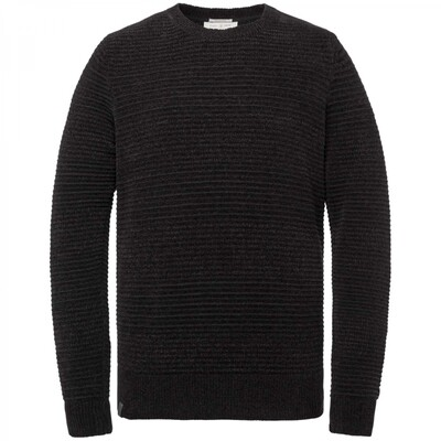 R-neck relaxed fit chenille cotton plated CKW216324-999