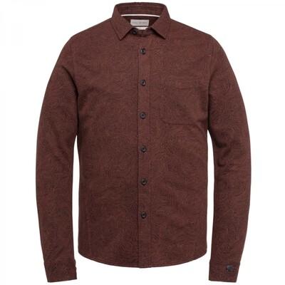 Long Sleeve Shirt Print On Loopsweat CSI216216 Burnt Henna