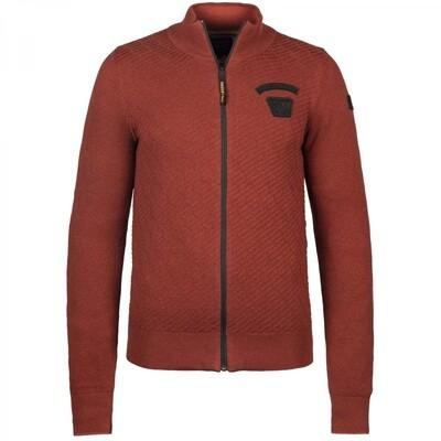Zip jacket Cotton Knit PKC216350-3249