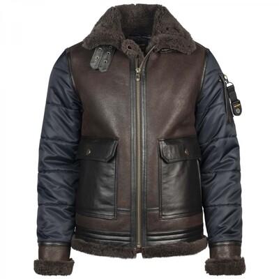 Short Jacket SKYGOOSE Satin Nylon / Lammy Combi PLJ216174-5281