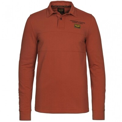 Long Sleeve Polo Pique Stretch PPS216836-3048