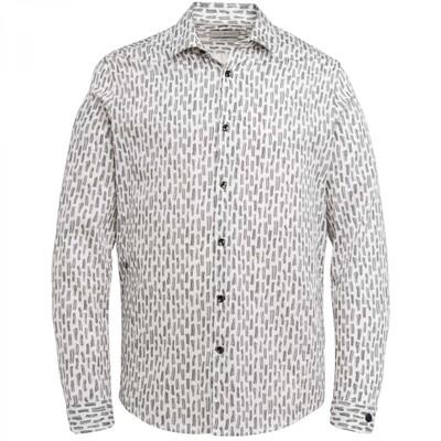 Long Sleeve Shirt Print On Structure Dobby Stretch CSI216212 -7155