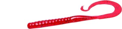 """Zoom 009084-SP Mag II Ribbon Tail Worm, 9"""", 20Pk, Tomato"""