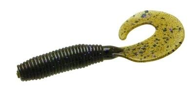 """Zoom 011248-SP Fat Albert Curly Tail Grub, 3"""", 10Pk, Green Pumpkin"""
