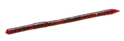 """Zoom 016021 Swamp Crawler Finesse Worm, 5 1/2"""", 25Pk, Red Bug"""