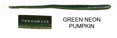 "Roboworm 6"" Straight Tail Green Neon Pumpkin"