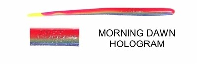 """Roboworm Hot-Tip 4 1/2"""" Straight Tail Morning Dawn Hologram"""