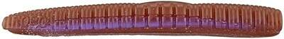 """Roboworm  Ned Worm 3"""" Oxblood Light Red Flake, 8/Pack"""