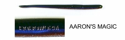 """Roboworm ST-8296 Straight Tail Worm 4 .5"""", Aaron's Magic, 10/Pack"""