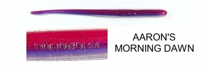 """Roboworm ST-H23R Straight Tail Worm, 4 .5"""", Aaron's Morning Dawn, 10/Pack"""