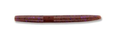 "Yamamoto 9S-10-221 Senko Worm, 4"" 10pk, Cinnamon Brown with Large Black & Large Purple Body"