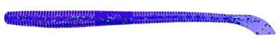 """Yamamoto Kut Tail Worm, 6 .5"""", 10pk, Junebug Purple with Emerald Flake"""