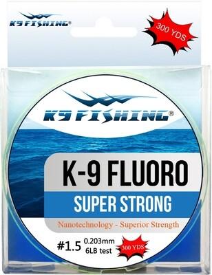 K9 300-12lb-CL Clear Fluoro Line 300 yard spool 12lb test