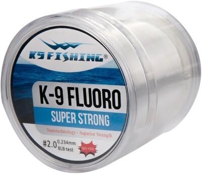 K9 550-8lb-CL Clear Fluoro Line 550 yard spool 8lb test