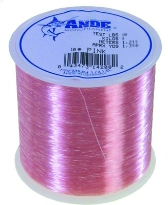 Ande A14-10P Premium Mono Line 1/4Lb Spool 10Lb 1350Yds Pink