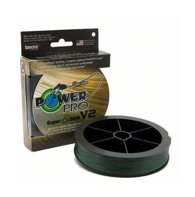 Power Pro 31500300300E Super Slick V2 30lb 300yd Moss Green