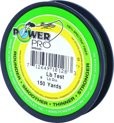 Power Pro Spectra Braided Fishing Line 50lb 150yd Green
