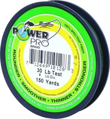 Power Pro Spectra Braided Fishing Line 30lb 150yd Green