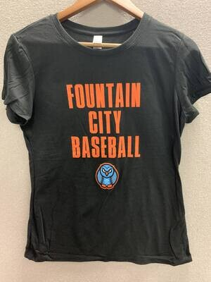 Ladies Fountain City Baseball Tee SS