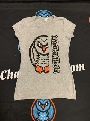 Fitted Owl/Wordmark Tee