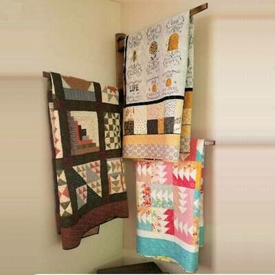 Large Wall Multiple Swing Arm Quilt Hanger
