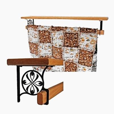 NEW Wrought Iron Bracket Quilt Shelf