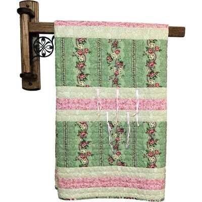 Wrought Iron Swing Arm Quilt Hanger