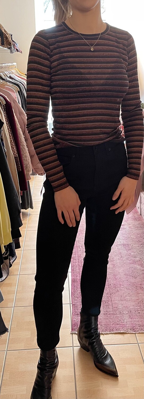 rag & bone Highrise Jeans schwarz