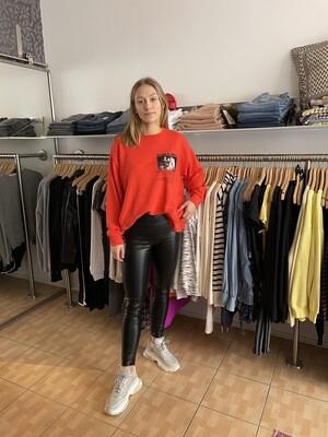 Liv Bergen Sweater rot